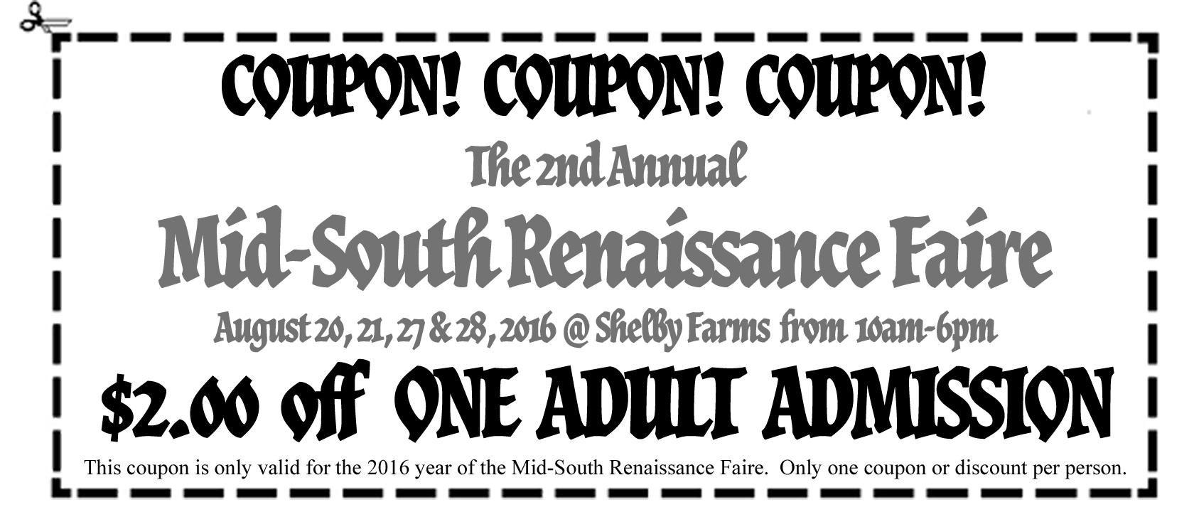 Renaissance festival md discount coupons